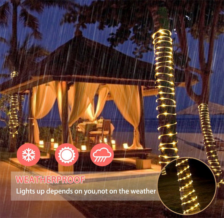 Image 3 - The Longest Waterproof Outdoor Home 30M 50 100M LED Fairy Street Light Decoration Garlands Patio Lights for DIY Garden Roof TreeLighting Strings   -