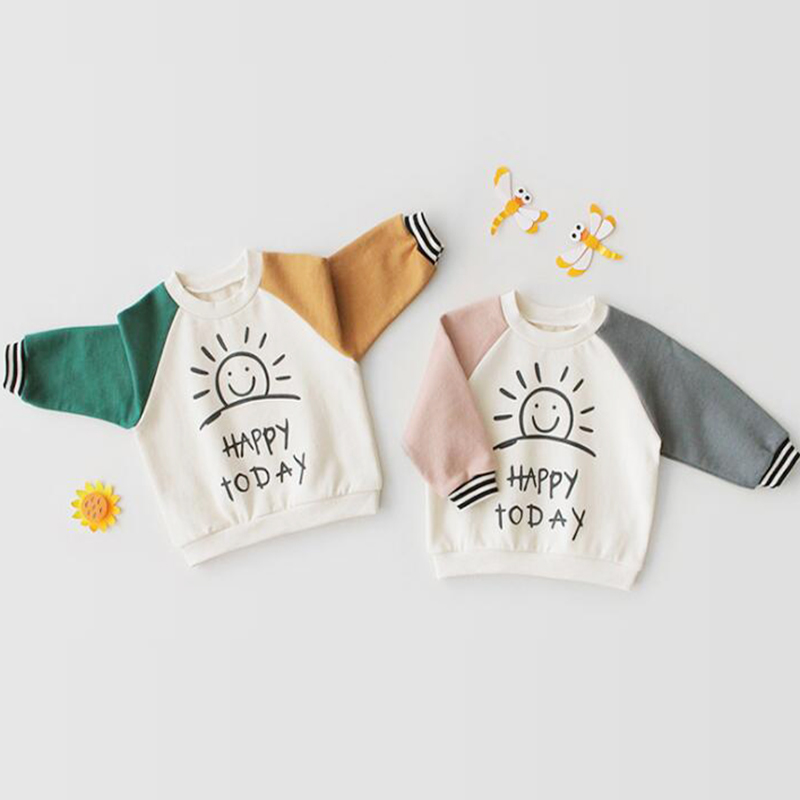 T-Shirt Baby Girl Tops Toddler Hoodie Long-Sleeve Autumn Boys Pure-Cotton And Jacket