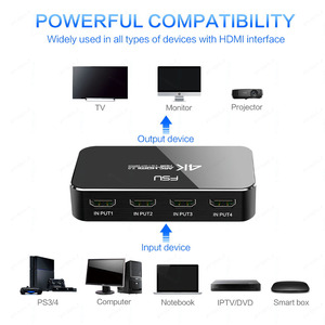 Image 3 - Fsu Hdmi Splitter 4 Ingang 1 Uitgang Hdmi Switch Hdr 4X1 Voor Hdtv PS4 4K Met Audio extractor 3.5 Jack Arc Hdmi Switcher Adapter