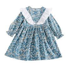 Весенне осенние новые платья для девочек 2020 Детские вечерние