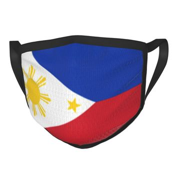 Philippines Flag Filipino Non-Disposable Face Mask Anti Haze Mask Protection Mask Respirator Mouth Muffle image