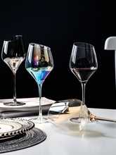 European Creative Crystal Glass Red Wine Cup Rainbow Luxury Goblet champagne glasses Bar Hotel party home wedding cups