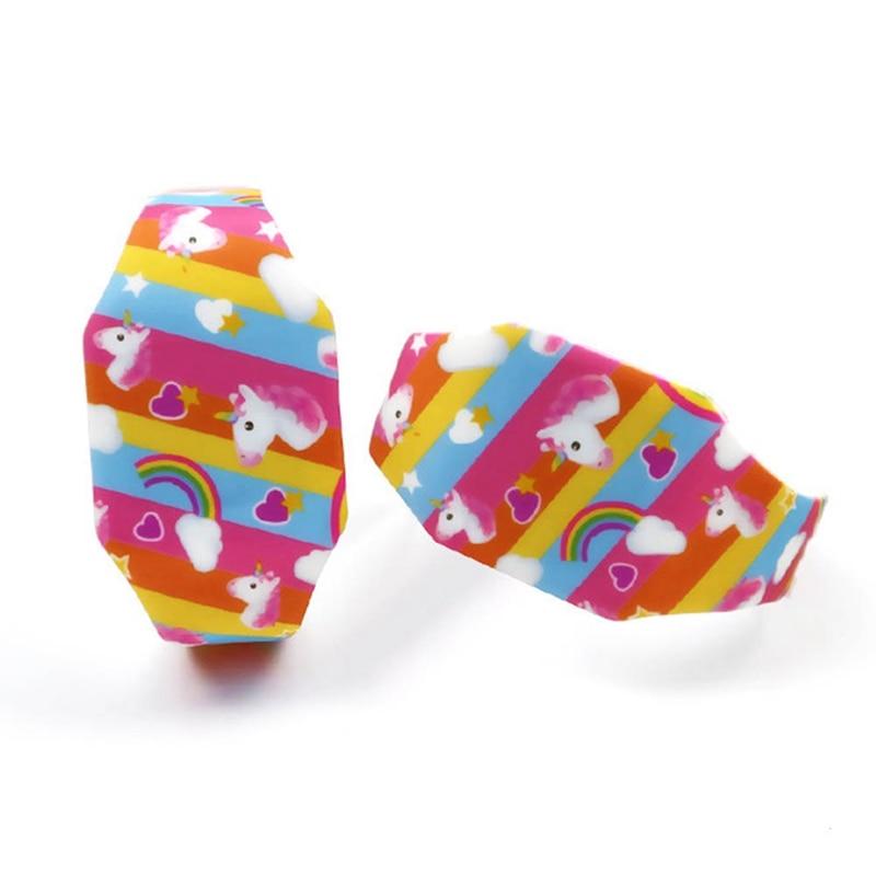 Kids Boys Girls Unicorn Printing Soft Rubber Fashion Digital Led Watches Wholesale Children Students Rainbow Luminous Watches