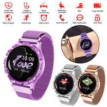 D18 Smart Watch Women Round Color Screen Continuous Heart Rate Sleep Monitoring Female Physiological Period Reminder Sport Watch(China)