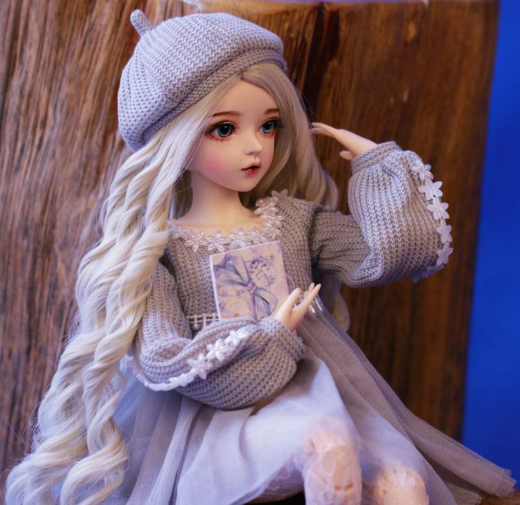 Шарнирная кукла 60 см, подарки для девочки, кукла с серебряными волосами и одеждой, кукла NEMEE со сменными глазами, лучший подарок на день Святого Валентина, ручная работа 3