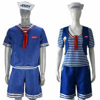 5 2019 best seller queda shipipng Estranho Coisas Temporada 3 Robin Steve Harrington Colheres Ahoy Sailor Traje Cosplay Uniforme