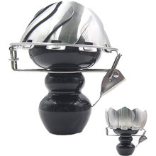 Funnel-Burner Charcoal-Bowl Hookah Ceramic-Head Foldable with Wind-Cover for