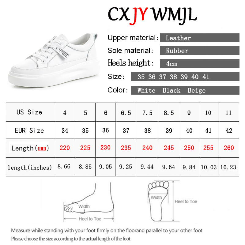 Big Size Women Sneakers Autumn Leather Light White Sneaker Female Platform Vulcanized Shoes Spring Casual Breathable Sports Shoe 6