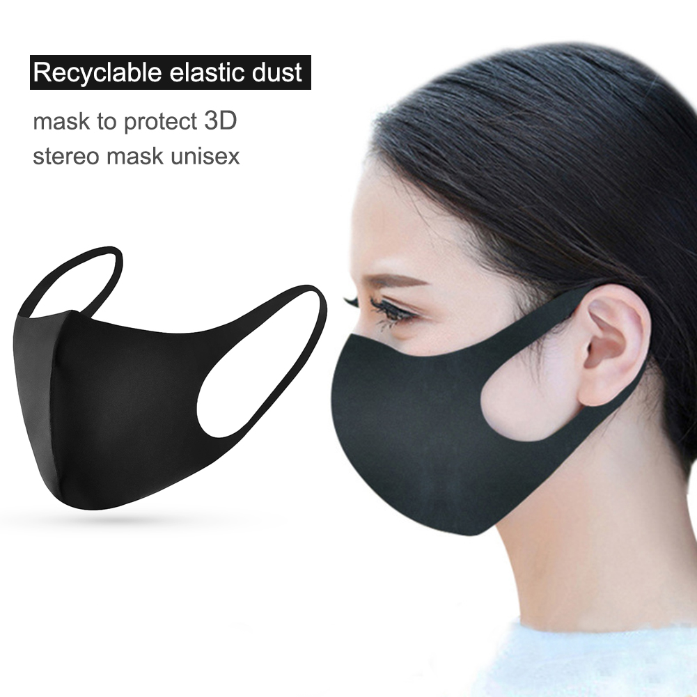 Breathable Recycle Mask Polyester Anti-dust Washable Reusable Mouth Muffle Unisex Face Nose Protection Windproof Mouth Masks