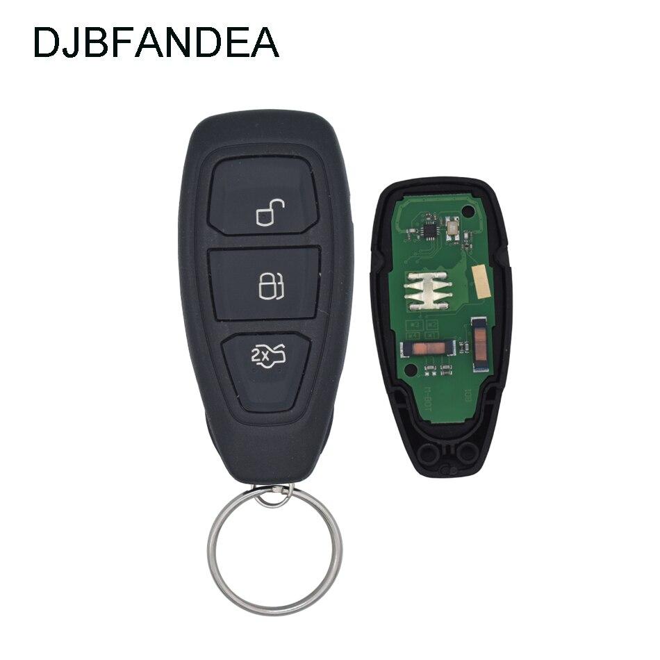 DJBFANDEA 3Buttons 433mhz Smart Remote Car Key 4D83 Chip 80Bits for Ford Focus Fiesta Mondeo C Max Kuga 2011 2012 2013 2014 2015 Car Key     - title=