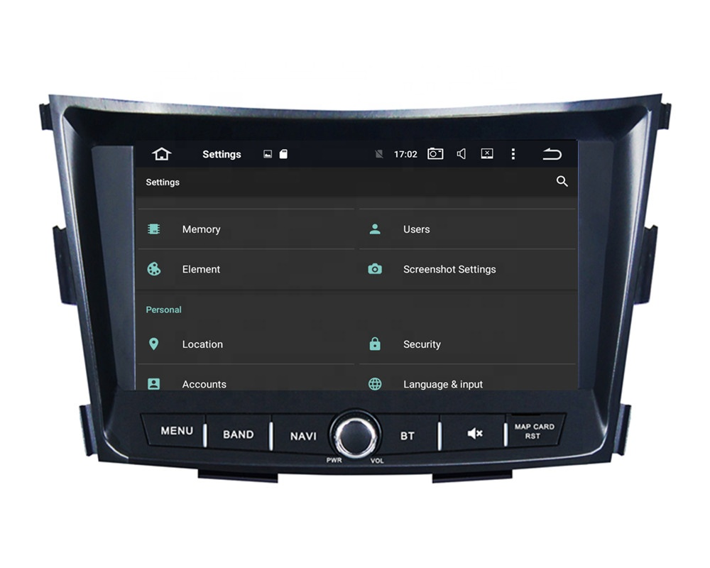 8inch 8 cores Android 9.0 car multimedia player car radio gps navigation for <font><b>Ssangyong</b></font> <font><b>Tivoli</b></font>/Rexton 2014 2015 2016 2017 2018 image