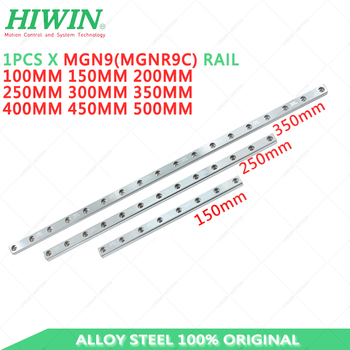 Alloy Steel Hiwin MGN9 150mm 200mm 250mm 300mm 350mm 400mm Linear Rail hiwin MGNR9R linear guideway mjunit mj50 long guideway system linear motion with 300mm stroke length linear motion actuators