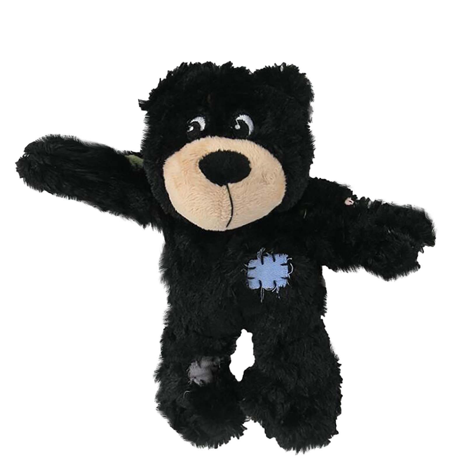 Pet dayanıklı oyuncak köpek bez bebek yama ayı Kawaii oyuncak ısırma ses (siyah) rahat ilginç evcil hayvan doğum günü hediyesi игрушки