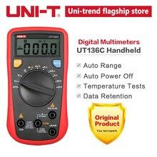 UNI T UT136C 디지털 멀티 미터 자동 범위 테스터 AC DC 전압 전류 옴 다이오드 Hz 테스트 다이오드 멀티 미터의 온도
