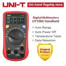 UNI T UT136C Цифровой мультиметр Авто Диапазон тест er AC DC Напряжение Ток Ом диод Гц температура тестового диода мультиметр