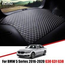 Tapis de coffre en cuir pour BMW série 5 2016 – 2020, tapis de coffre, doublure de coffre, pour BMW G30 G31 G38