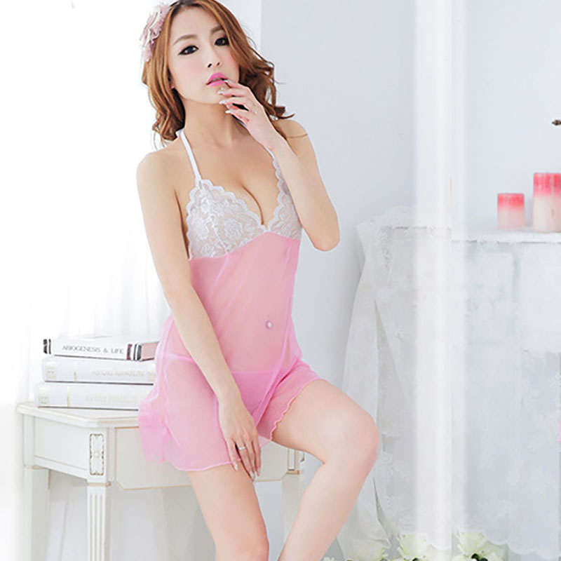 Big Code Sexy Lingerie Sexy Perspective Lace Sling Pajama Transparent Pajamas Sexy Costumes Exotic