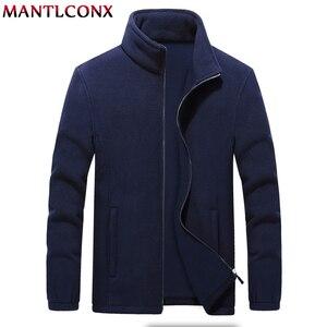 Image 2 - MANTLCONX M 9XL Fleece Jacke Männer Große Größe Jacke Mantel Männer Oberbekleidung Große Größe Im Freien Warme Jacken und Mäntel für Männer winter