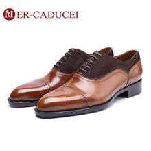 Мужские модельные туфли из натуральной кожи; винтажные Туфли-оксфорды ручной работы в стиле ретро; деловые Модные Туфли-оксфорды для свадебной вечеринки