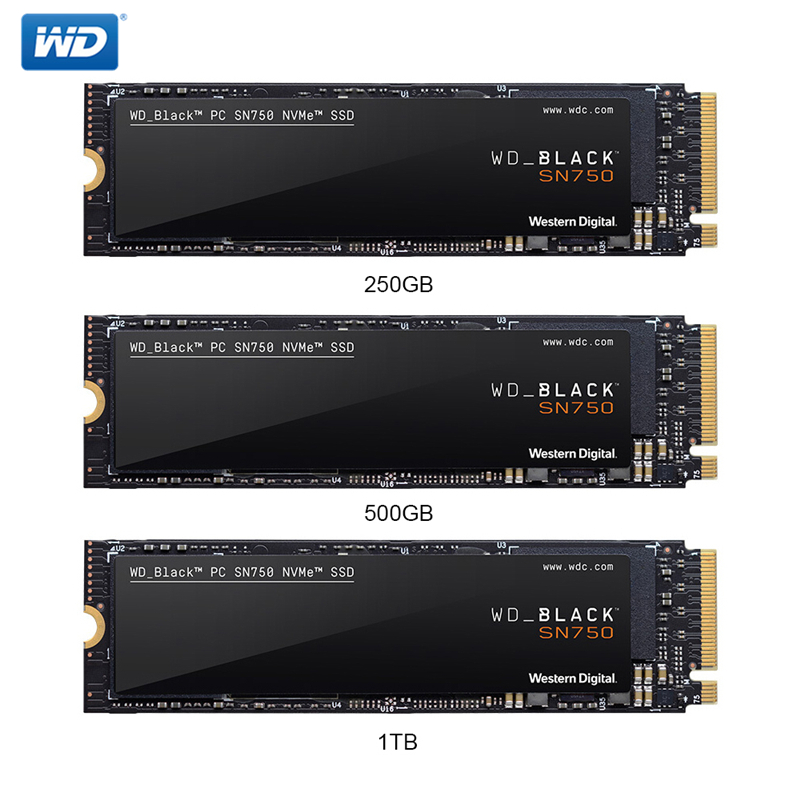 Western Digital WD BLACK SSD SN750 250GB NVMe Internal Solid State Drive Gaming SSD-Gen3 PCIe M.2 2280 SSD 3D NAND for Gaming PC image