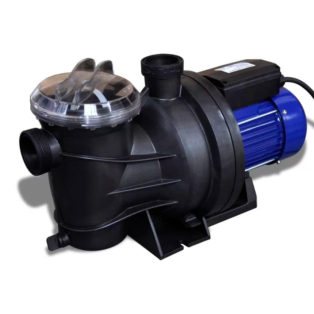 VidaXL Electric Swimming Pool Pump 800 W Blue 90466 55 X 25 X 23.5 Cm Powerful Motor Reinforced Thermoplastic Housing Pump