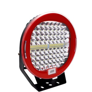 Image 4 - Safego faro LED de 9 pulgadas y 408W para coche, foco de trabajo, antiniebla de conducción, funda negra roja para camión Tractor ATV UAZ SUV 4WD 4x4