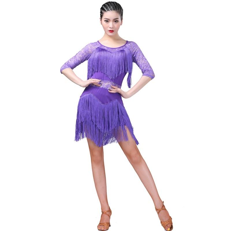 New  2019  Latin Dance Dress Women/Girls/Lady New Sexy  Latin Dance Practice Clothes Dance Performance Clothing Tassel Dress