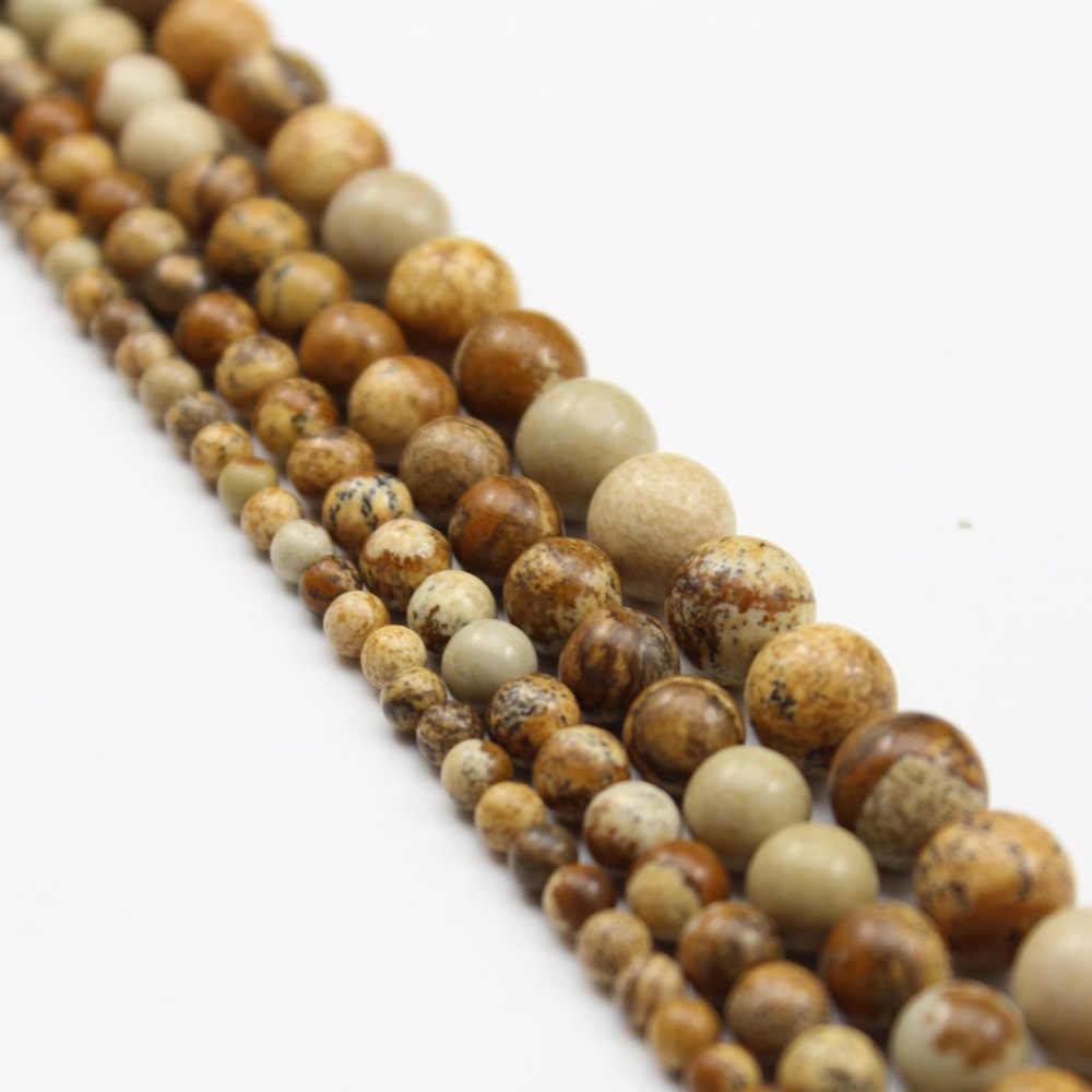 4 6 8 10mm kamień naturalny koralik matowy lawa onyks okrągły pełna Strand Healing Gem półszlachetne koraliki do tworzenia biżuterii bransoletka Zrób To Sam