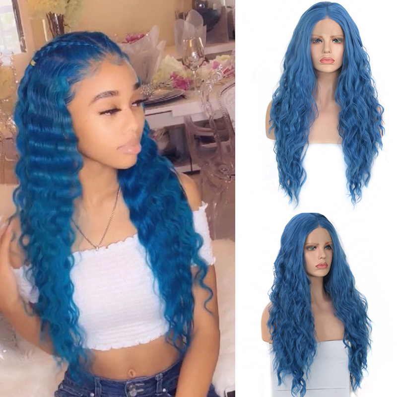 Charisma 30 Inches Long Curly Wig Middle Part Synthetic Wigs For Women Heat Resistant Hair Synthetic Lace Front Wig For Women