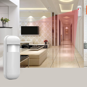 Motion sensor 2Pcs 433 Mhz EV1527 Wireless Mini PIR Motion Sensor Alarm Detector Infrared Sensor for Home Alarm System