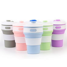 Hot Folding Silicone Cup Portable Silicone Telescopic Drinking Collapsible Coffee Cup Multi-function Foldable Silica Mug Travel