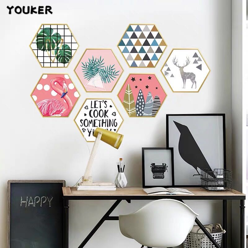 3D Flamingo Self-adhesive Wall Stickers, Wall Stickers Artifact