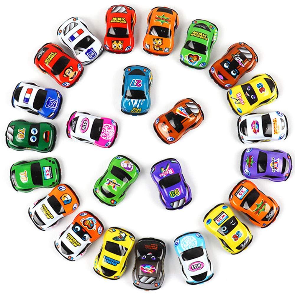 Pull Back Car 36 Pack Set Of Toy Cars Party Favor Mini Toy Cars Set For Boys Kids Child Birthday Play Plastic Vehicle Set