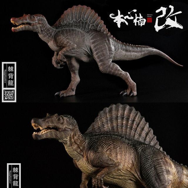 Stokta var! Nanmu stüdyo 1/35 ölçekli Spinosaurus Supplanter Jurassic gerçekçi dinozor aksiyon figürü PVC Model oyuncaklar toplayıcı