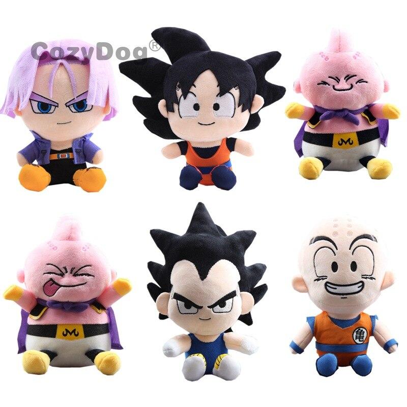 Anime  Soft Toys Kuririn Majin Buu Torankusu Vegeta Plush Toys 20 cm Kids Gift