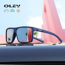 OLEY Photochromic Sunglasses Men Women Polarized Chameleon Glasses Driving Goggl