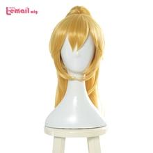 L mail pruik Bowsette Prinses Cosplay Pruiken Bowser Cosplay Blonde Paardenstaart Halloween Cosplay Pruik Hittebestendige Synthetisch Haar