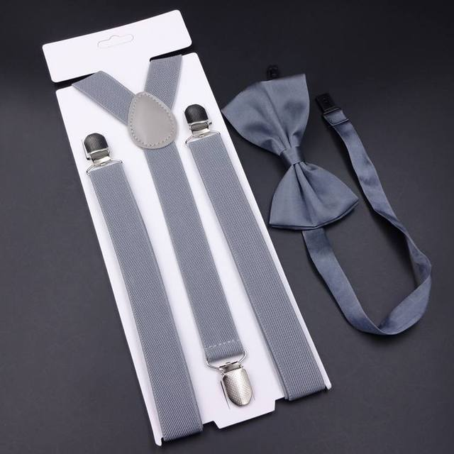 Men's Vintage Suspenders And Bow tie Set