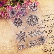 PANFELOU 13x18 кристма Романтический Снег прозрачный силиконовый штамп/печать DIY Скрапбукинг/фотоальбом прозрачные штамп листы