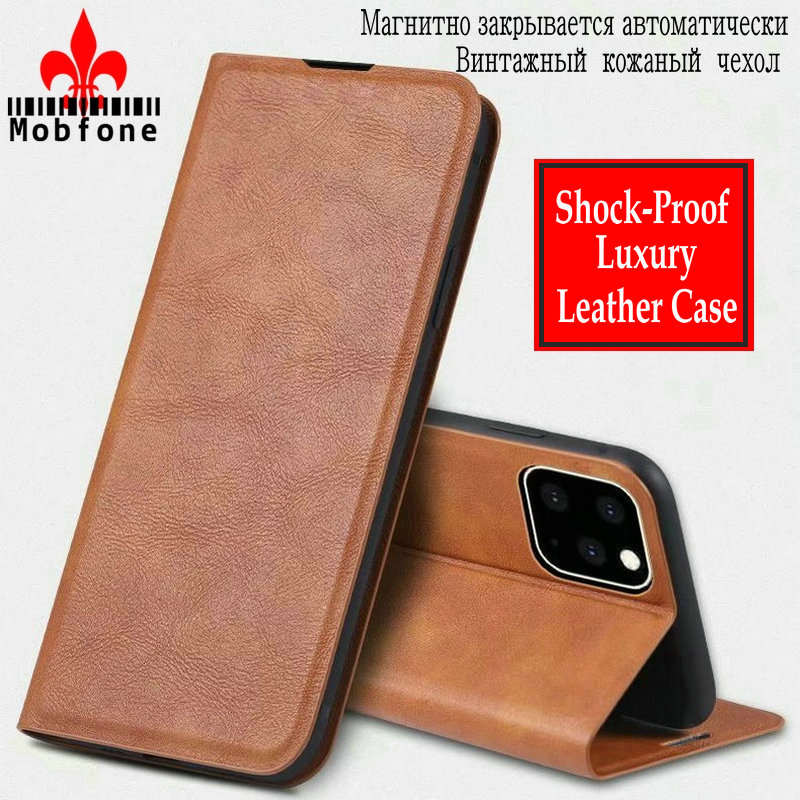 <font><b>Original</b></font> Mobfone for <font><b>iPhone</b></font> 11 Pro X XR XS MAX Vintage Leather <font><b>Case</b></font> For <font><b>iPhone</b></font> 6 6s 7 <font><b>8</b></font> PLUS Wallet Book Flip Magnetic Cover Bag image