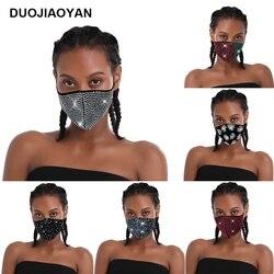 DUOJIAOYAN European and American fashion bright diamond veil sex appeal mask retro quicksand veil Headdress accessories female