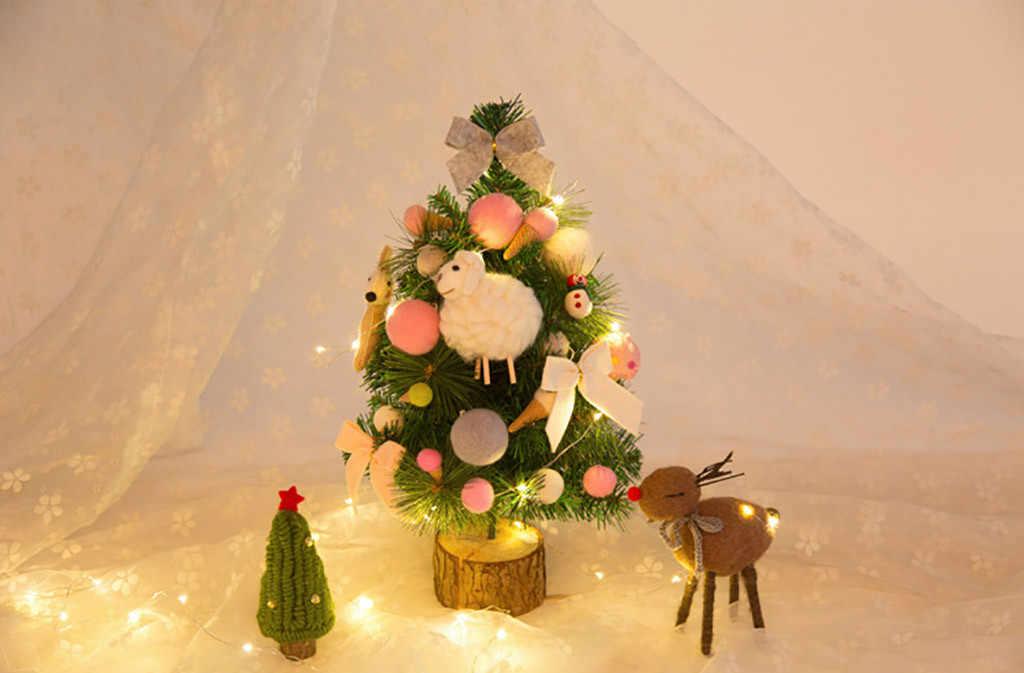 Wol Kleurrijke Lam Thuis Ornamenten Kerst Accessoires Kerstboom Decor Новогодние украшения kerst decoraties voor huis