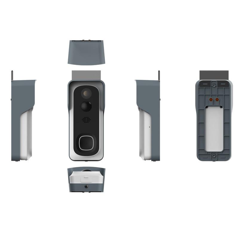 Купить с кэшбэком Waterproof PIR Motion Detection 166 Wide Angle Rechargeable Battery WiFi Video Doorbell Camera with Chime