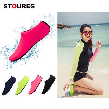 Skarpetki plażowe skarpety nurkowe mężczyźni kobiety buty do wody buty do pływania letnie Aqua buty na plażę skarpetki buty do wody tanie i dobre opinie STOUREG CN (pochodzenie) Dobrze pasuje do rozmiaru wybierz swój normalny rozmiar Spring2018 Wsuwane Początkujący Szybkie suszenie