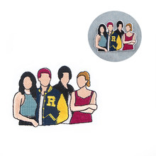 R942 1pcs TV Show RIVERDALE Sticker For Clothing Applications Patches On Clothes Iron Embroidered Patch For Backpack Badge(China)