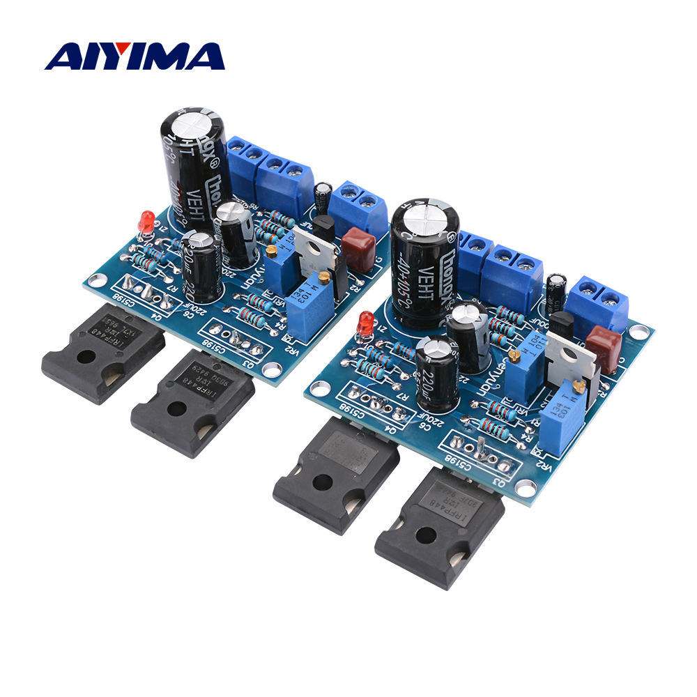 AIYIMA 1Pair 1969M FET Bile Power Amplifier Board 25W+25W 1969 IRFP448 <font><b>Tube</b></font> Amplifier Home Sound Theater DIY Super 1875 3886 <font><b>AMP</b></font> image