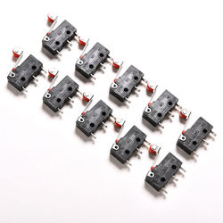 10pcs/lot AC 5A 125V-250V Micro Roller Lever Arm Normally Open Close Limit Switches