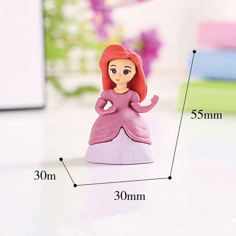 Disney Princess Styling Eraser Children Cartoon Creative Student Stationery Eraser Office School Supplies Erasers For Kids