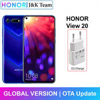 Honor V20 Honor View 20 NFC Mobile Phone Liquid Cooling Kirin 980 Android 9.0 6.4 inch Screen 4000mAh Battery Smartphone