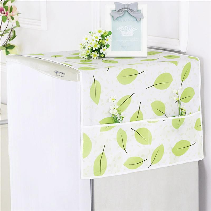 1pc Multi-purpose Dustproof Printing Refrigerator Cover Oil Resistance Dust Covers Kitchen Dust Sunscreen Fridge Cover